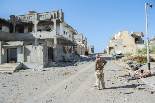 Destroyed buildings in Sirte, Libya. Photo: Panos/ Jeroen Oerlemans
