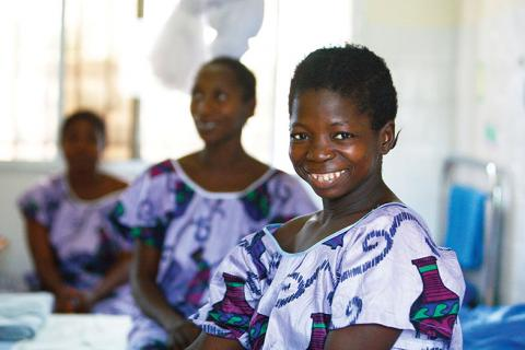 A patient in Sierra Leone awaiting surgery to correct fistula, a condition often  caused by FGM