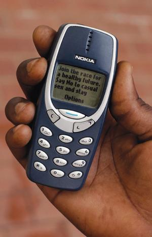 The government of Nigeria sends out SMS text messages to raise awareness about the dangers of HIV/AIDS