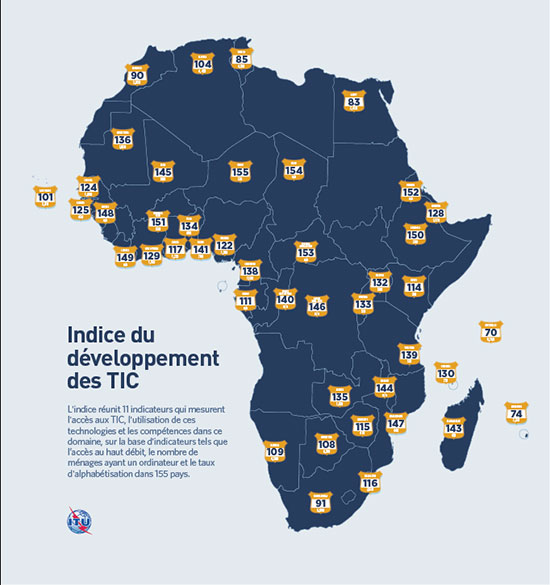 2012 ICT Index Africa map