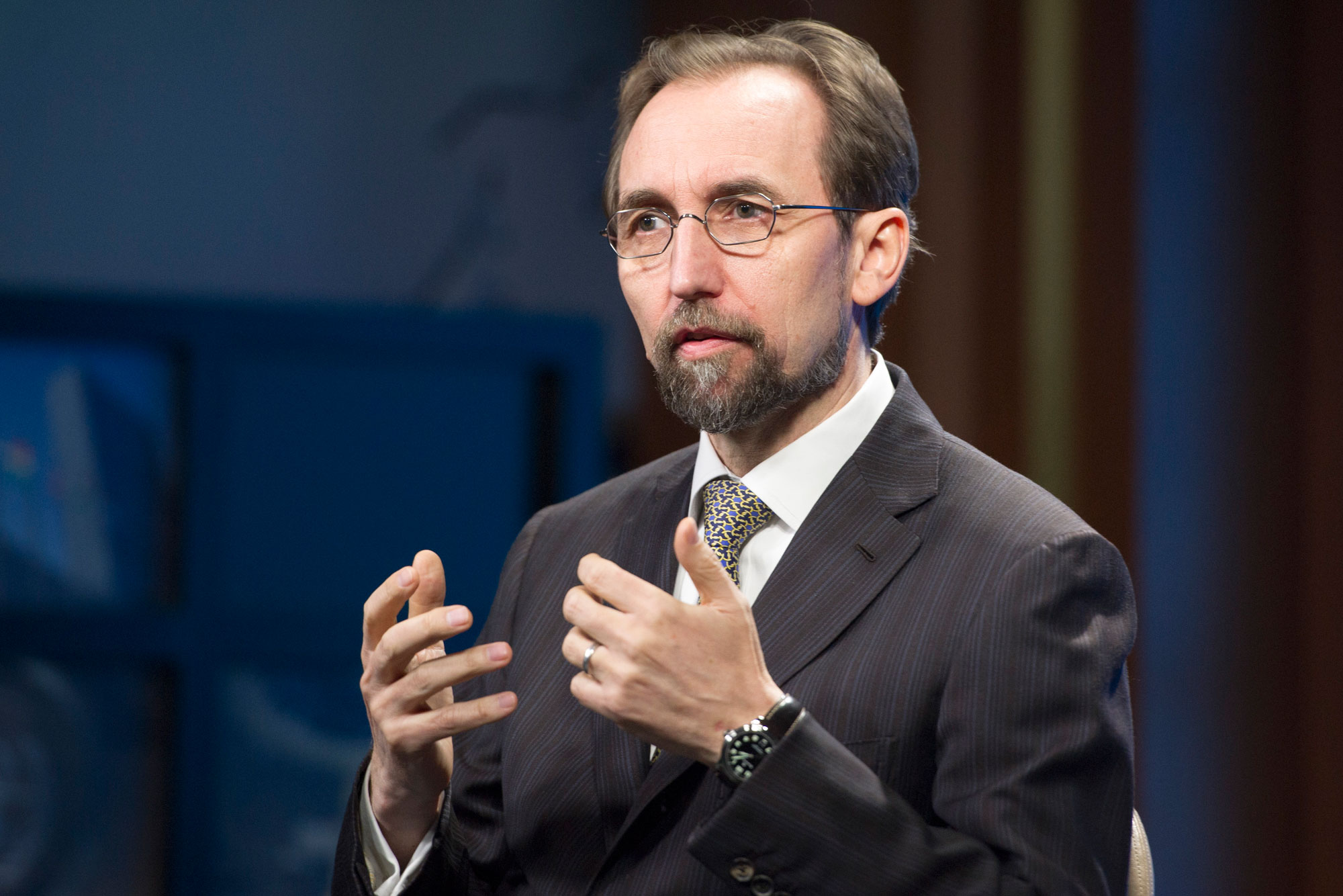 The UN High Commissioner for Human Rights, Zeid Ra'ad Al Hussein. UN Photo/Rick Bajornas