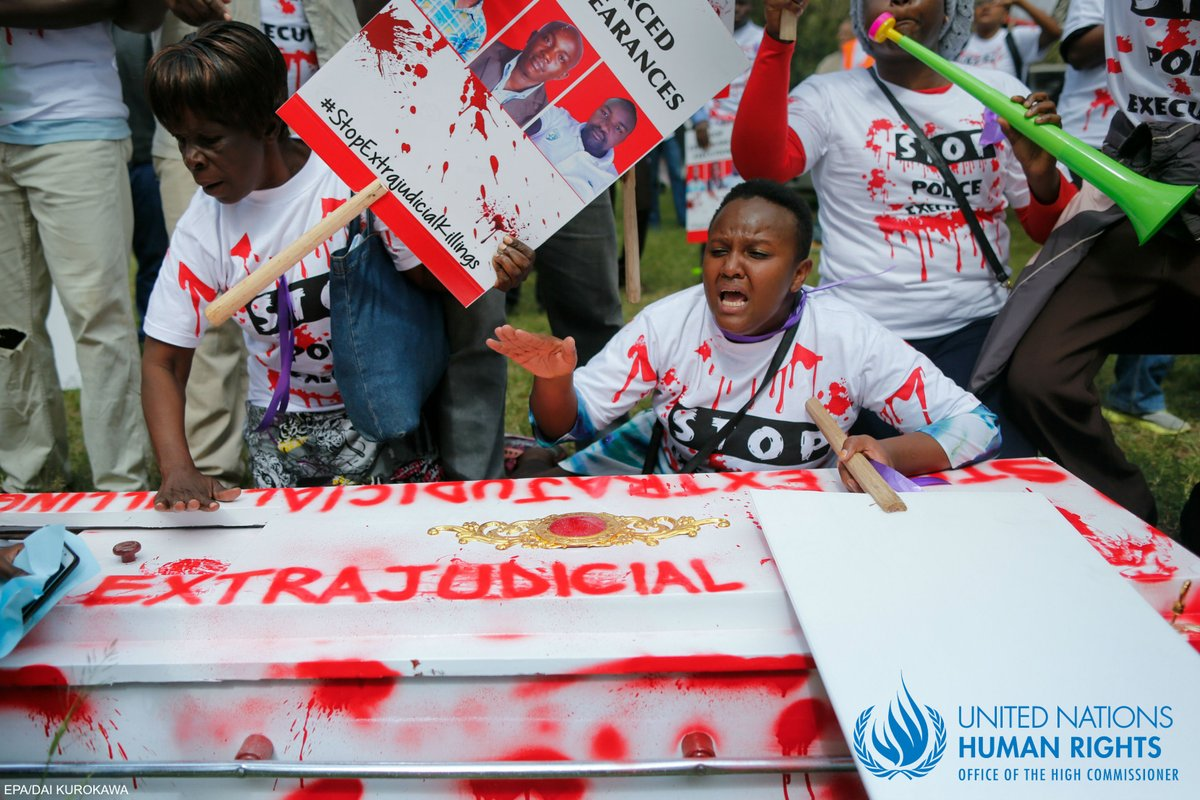 Protesters calling for justice for the deaths of  human rights lawyer Willie Kimani, his client Josphat Mwenda, and their taxi driver, Joseph Muirur. Photo: OHCHR