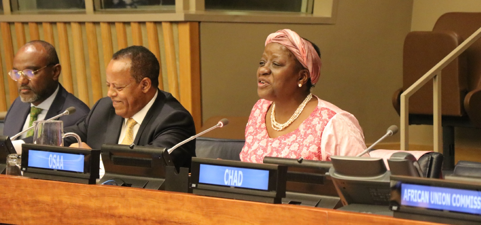 Under-Secretary-General's and Special Adviser on Africa, Bience Gawanas (right).