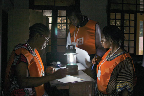Counting votes after the 2006 election in the Democratic Republic of the Congo