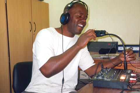A DJ on Mozambique's Radio Komati