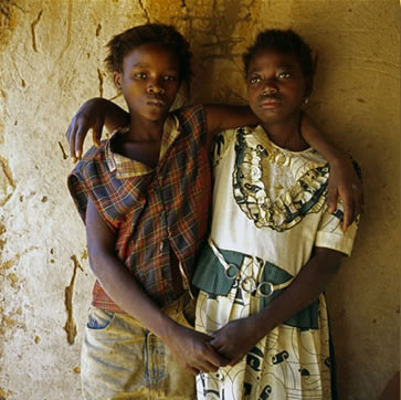 Two HIV-positive girls in Zambia