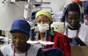 Textile factory in Lesotho