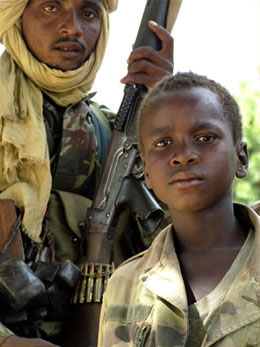 A boy soldier in the Chadian army