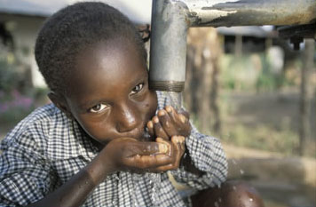 Providing children with safe water can greatly cut waterborne illnesses
