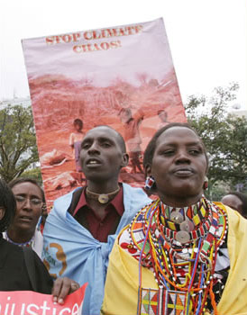 Demonstrators in Nairobi, Kenya
