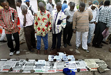 "Some Congolese newspapers and broadcasters have worsened political tensions by disseminating ""hate"" messages"