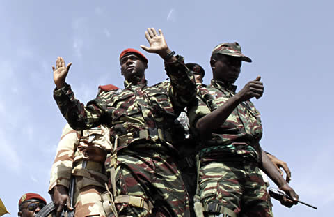 Soldiers from Niger