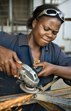 Few women in Africa work in regular, formal sector jobs