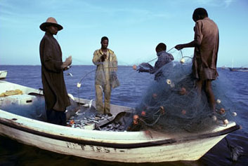 Photo: African fishermen