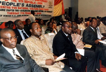 A February 2006 meeting of Ghana's People's Assembly