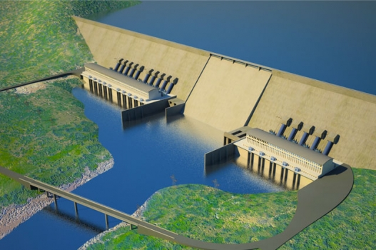 An artist's impression of the Grand Ethiopian Renaissance Dam.   Photo: www.grandmillenniumdam.net