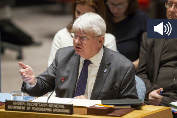 Hervé Ladsous, Under-Secretary-General for Peacekeeping Operations, briefs the Security Council on the situation in Sudan, South Sudan & Darfur. UN Photo/Loey Felipe
