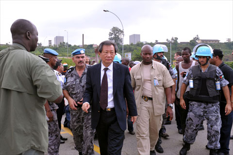 Choi Young-jin, Special Representative of the Secretary-General for Côte d'Ivoire