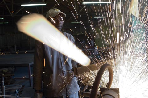 Metalworker in Ladysmith, South Africa