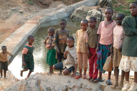 Community dam in Kenya