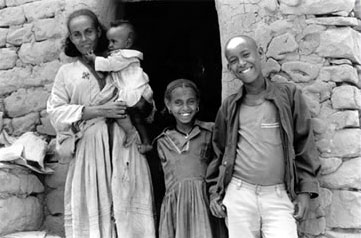 A widow and her children in Ethiopia