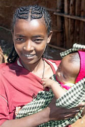 Young mother in Ethiopia
