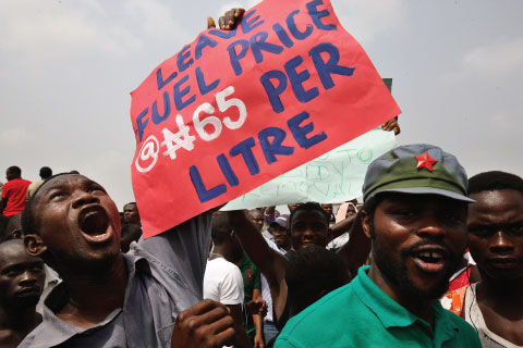Nigerians protested when the government abruptly announced an end to petrol subsidies