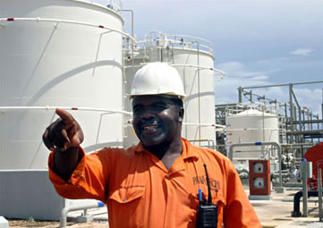 A gas processing plant in Tanzania