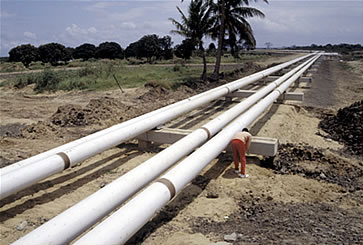 Pipeline carrying natural gas from Mozambique to South Africa