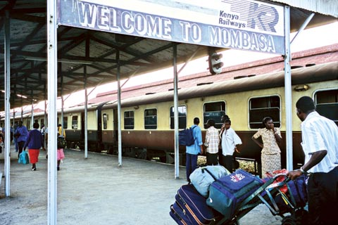 Train station in Mombasa, Kenya