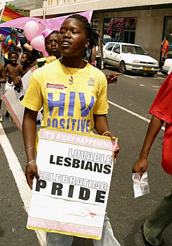 Gay pride march in South Africa: African gays and lesbians are challenging discrimination and prohibitions