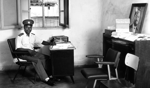 Office of a police commander in Maputo, Mozambique