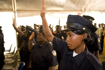 Female Liberian police officers