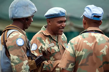 South African peacekeeping troops in the Congo