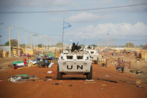 UN peacekeepers in the disputed territory of Abyei