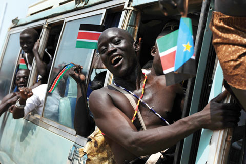 "South Sudan's independence day festivities: ""We must get to work right away,"" said President Salva Kiir."