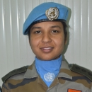 Captain Tanvi Shukla from India, serving in the DR Congo