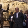 The statue of Nelson Mandela gifted to the UN by South Africa.