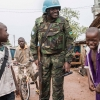 UN peacekeepers patrol the PK5 neighborhood of Bangui, the capital of the Central African Republic