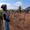 Farmers wear masks during a Farmer Field School session on COVID-19 prevention in Malanje Province, Lombe community. Angola has very few cases of COVID-19, and FAO together with the Angolan government, is working to keep it that way