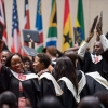 Students of the Africa Leadership University School of Business graduate in Kigali.