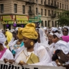 Sengalese at cultural parade in Harlem in New York. Photo: Alamy / Richard Levine
