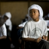A young female student in Monrovia, Liberia.