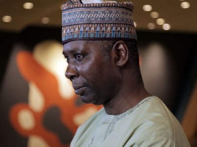 General Assembly President-elect Tijjani Muhammad Bande speaks to UN News. (September 2019)Photo by: UN News/Nam Cho