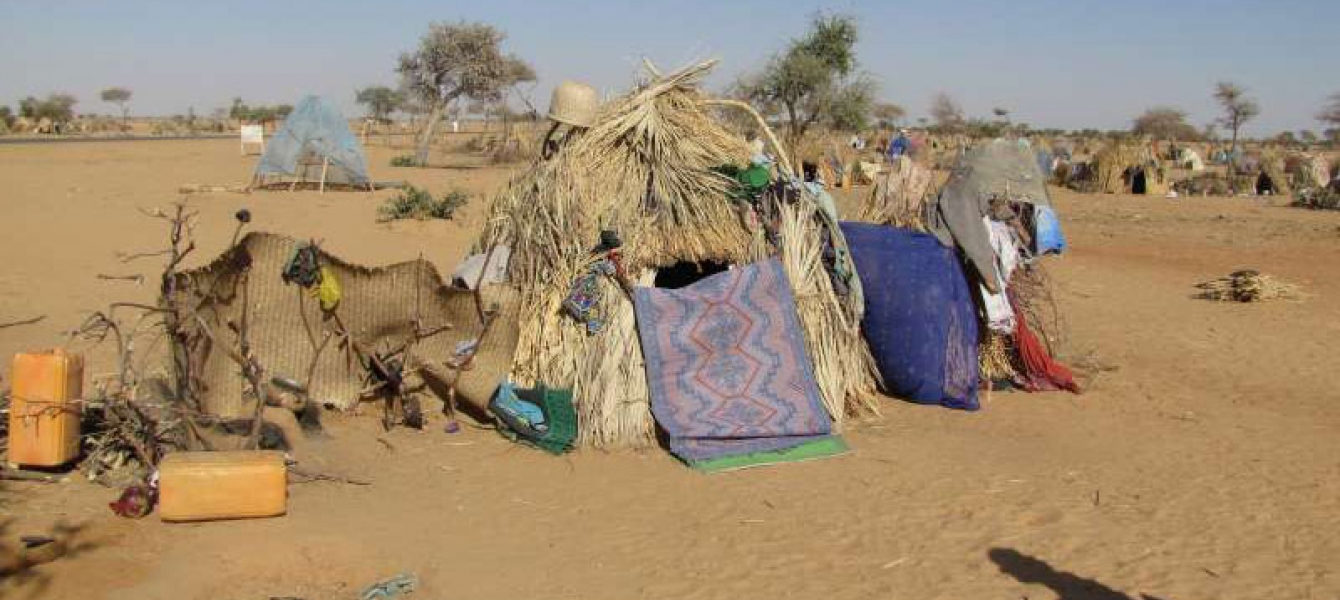 A makeshift refugee shelter beside the highway east of Diffa, Niger. Photo: UNHCR/Boubacar Bamba