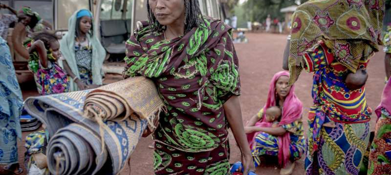 These women from Central African Republic are among the hundreds of thousands displaced by the conflict in the country. Photo: UNHCR/F.Noy