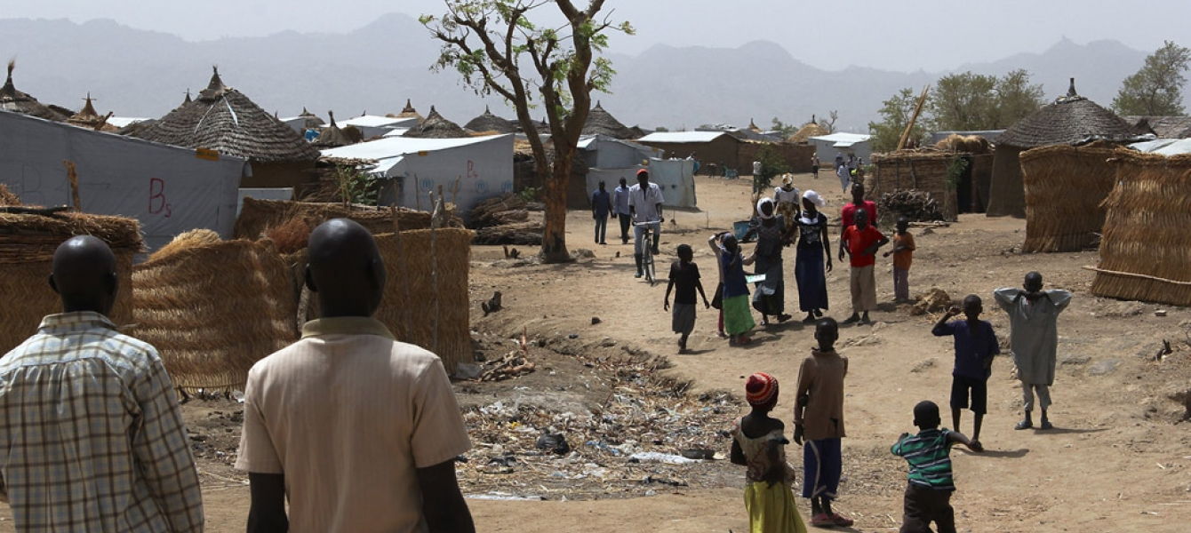 Nigerian refugees at Minawao refugee camp, northern Cameroon.