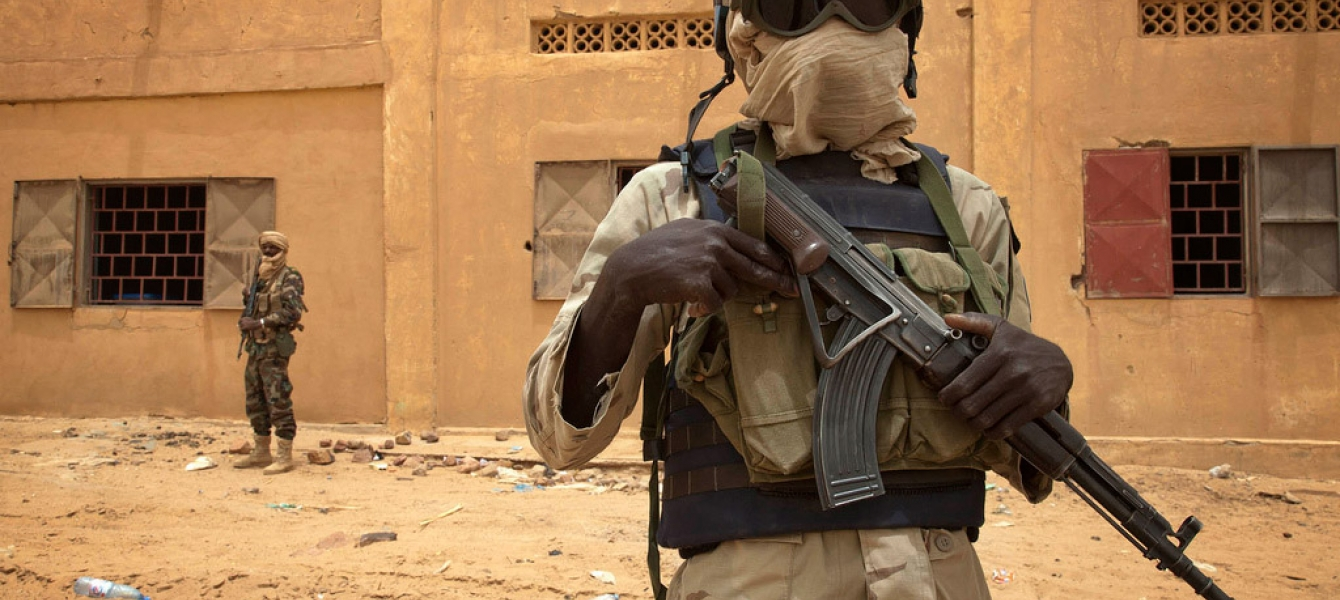 A Senegalese UN peacekeeper patrols along with a Malian soldier in Kidal in July 2013. Photo: MINUSMA/Marco Dormino