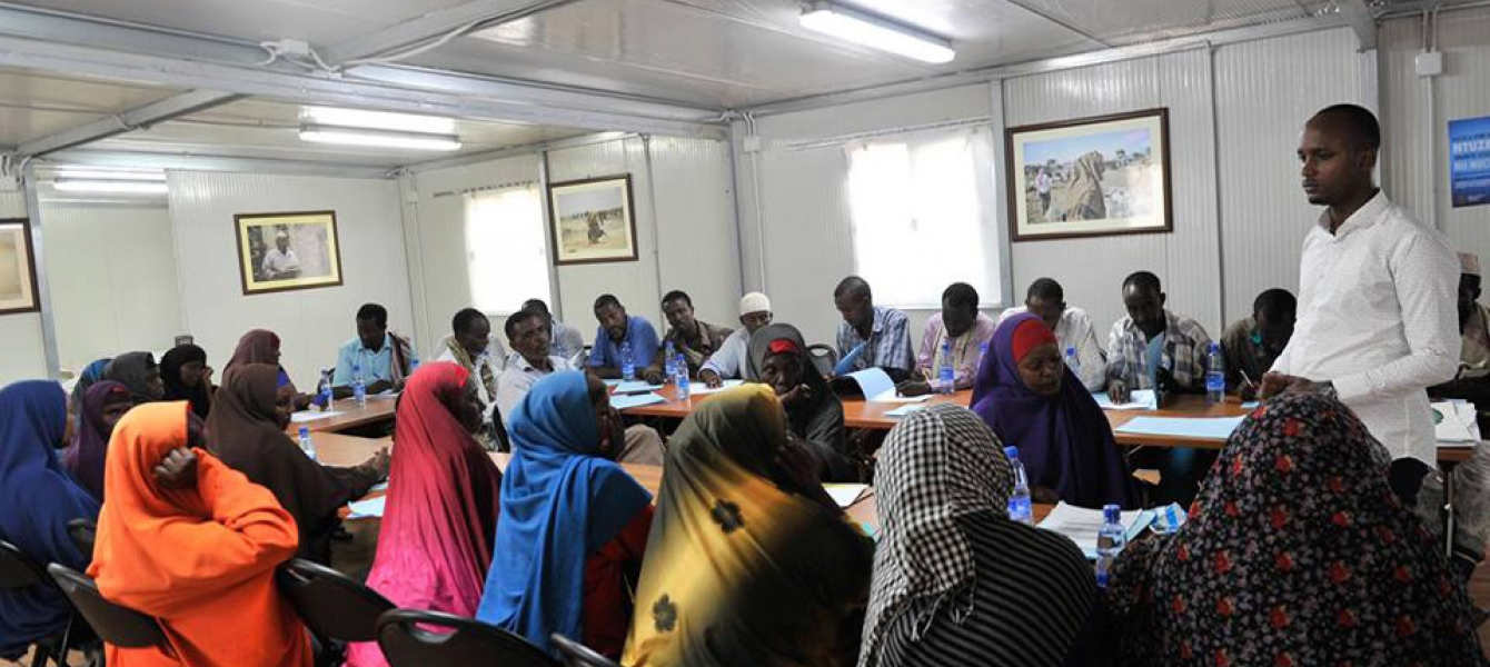IDP'S attend a training session on Human Rights, Gender and Sexual Violence in Mogadishu, Somalia, which was supported by the UN Assistance Mission in Somalia (UNSOM).