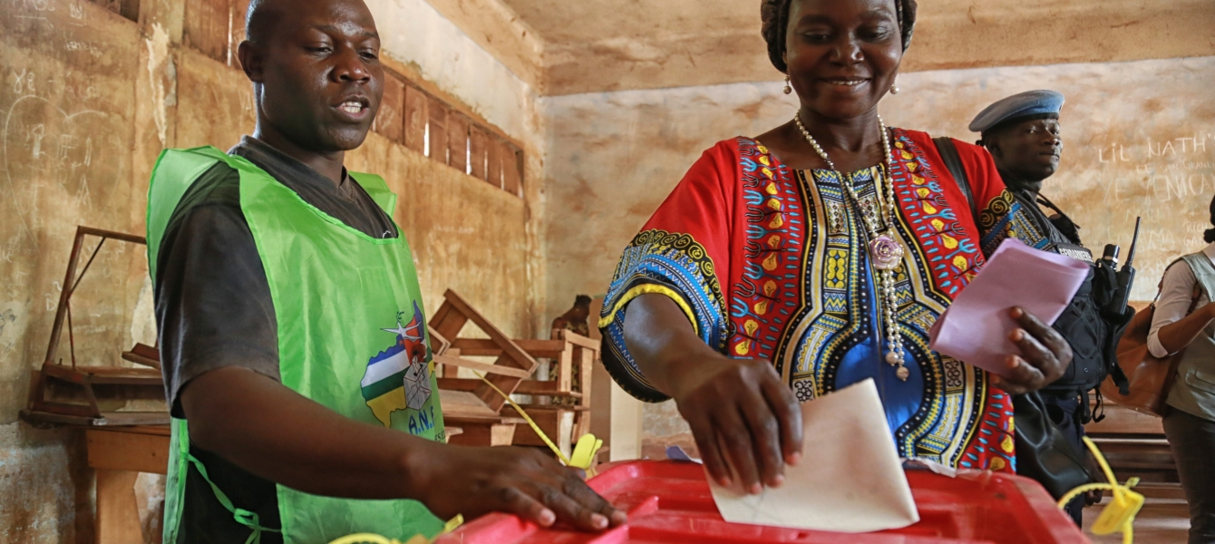 After two years of political transition, voters have cast their ballots peacefully and democratically in the Central African Republic. Photo:  UNMINUSCA